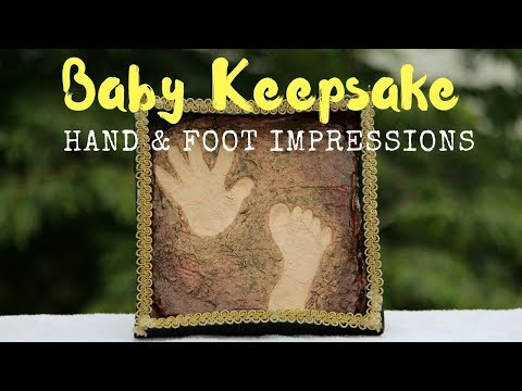 Baby/Kids Keepsake DIY - Hand and Foot Impressions- How to Make Home Made Air Dry Clay- DIY Projects