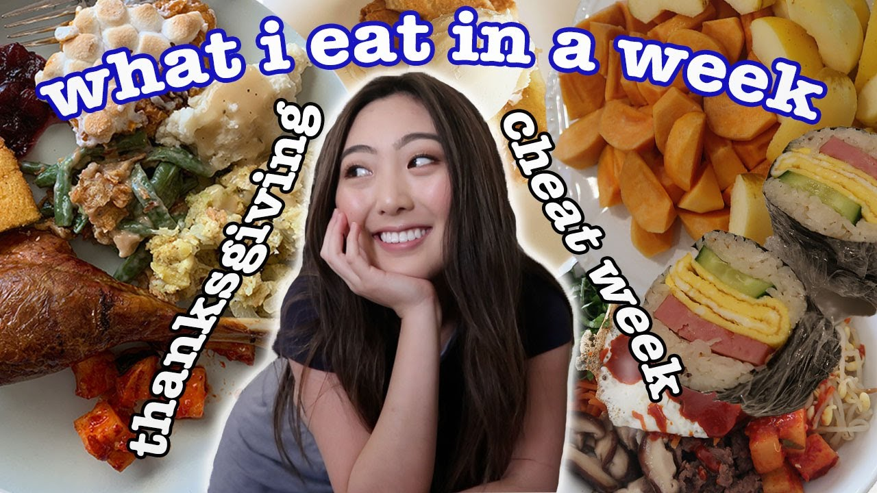WHAT I EAT IN A WEEK *Thanksgiving CHEAT WEEK*   Mukbang, Friendsgiving, Pies   FIRST Week Home