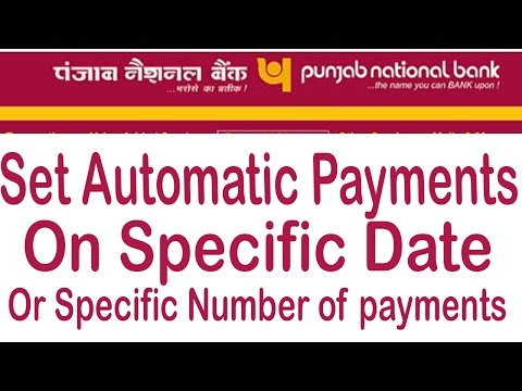 PNB Net Banking Tutorial - Set Automatic Payments Using Sheduled Transaction And Recurring Feature