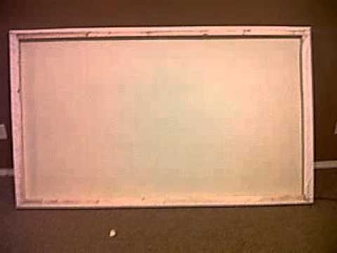 How to build a projector screen for cheap