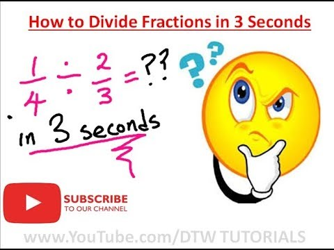 How to Divide Fractions in 3 Seconds | Maths Trick