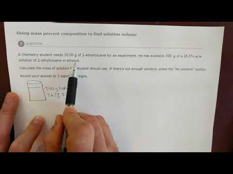 ALEKS Using Mass Percent Composition...