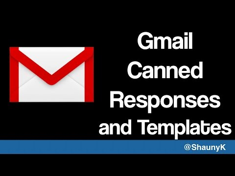 Gmail Canned Responses - Template Emails