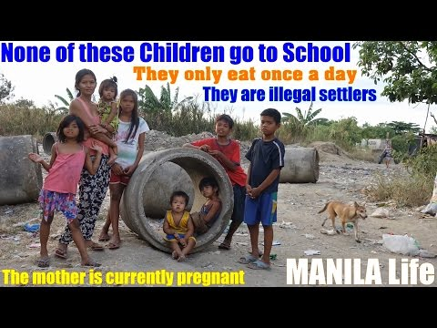 Travel to Manila Philippines and Meet the Roman Catholic Filipinos. Poverty in the Philippines