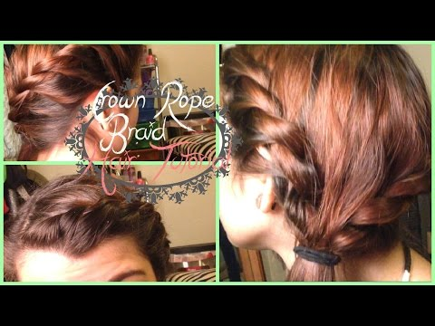 Crown rope braid hair tutorial