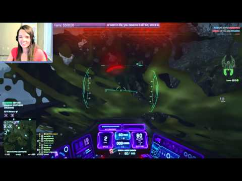 Planetside 2 jet flying at its best.
