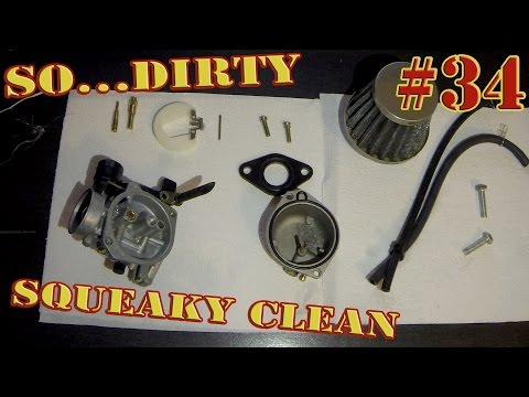 How to Clean your 125cc Pit Bike Carburetor