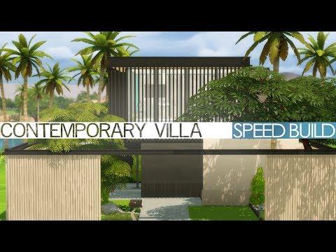 The Sims 4 Speed Build - CONTEMPORARY VILLA