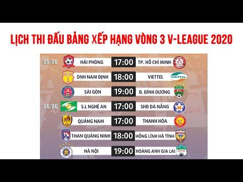 Lịch thi đấu vòng 3 V-League 2020 | Đại chiến ở Hàng Đẫy | Bảng xếp hạng V-League 2020