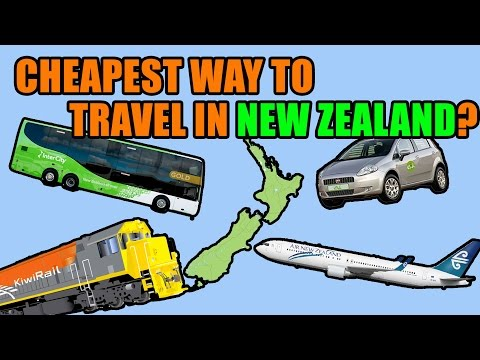 Cheapest travel in New Zealand? Train, car, bus or plane?