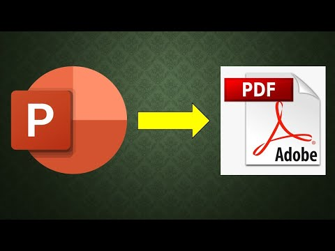 Microsoft PowerPoint 2016 Tutorial - How to convert PowerPoint presentation to PDF or XPS document