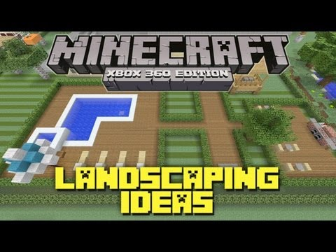 Minecraft Xbox 360: Landscaping Ideas and Tutorial! (Backyard Tutorial)