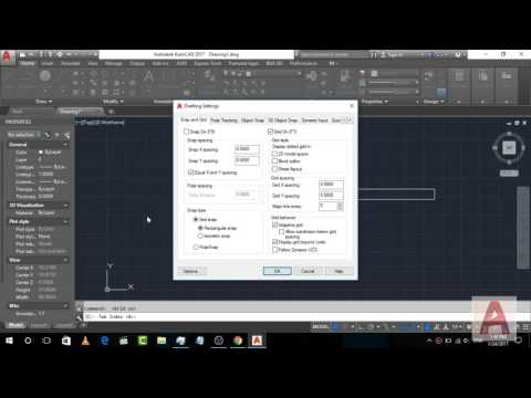 How to turn on and off Grid in AutoCad 2017 | AutoCad Tips and Trick tutorial