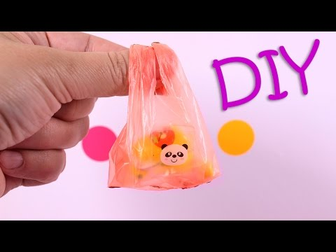 DIY Miniature Plastic Grocery Bags