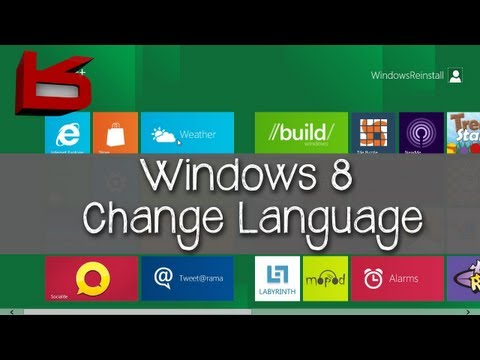 Windows 8: How to Change Language
