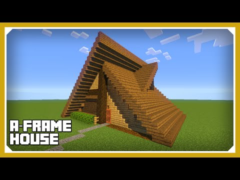 Minecraft: How To Build An A Frame House Tutorial (Easy Survival Minecraft House )