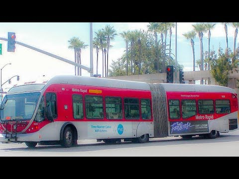 Riding The Metro Rapid Line 704, Santa Monica to West Hollywood