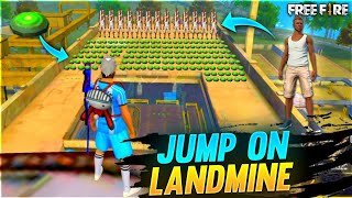 Factory Roof Challenge Jump On 1 Lakh Landmine (Wtf Moment)😱😨 - Garena Free Fire