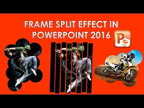 Create A Frame Split Effect in MS PowerPoint 2016 - Image Split Effect Like in Photoshop