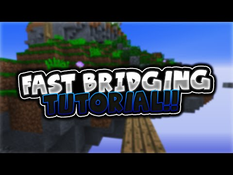 How To Speed Bridge/Ninja Bridge in Minecraft [English]