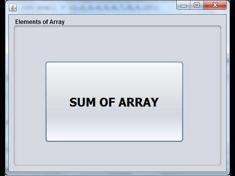 Java NetBeans Tutorial - Element of Array On Message Box
