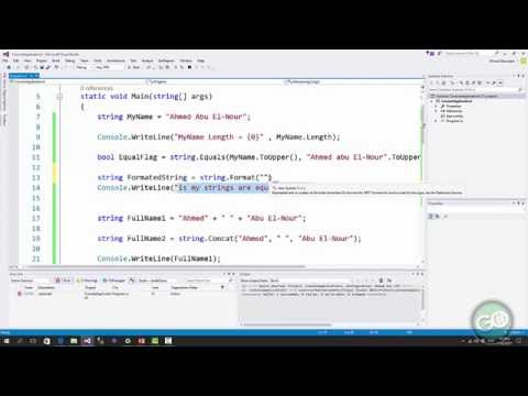 12 - C# - String - التعاملات النصية