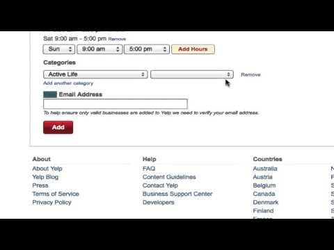How do I set up a Yelp Business Page?