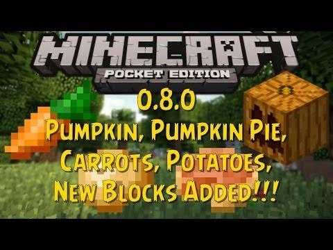 Minecraft PE - 0.8.0 - Pumpkin, Pumpkin Pie, Carrots, Potatoes, New Blocks Added - NEWS
