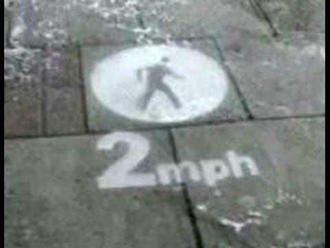 Pavement speed limits for pedestrians when it rains