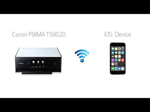 Canon PIXMA TS9020 - Easy Wireless Connect Method on an iOS Device