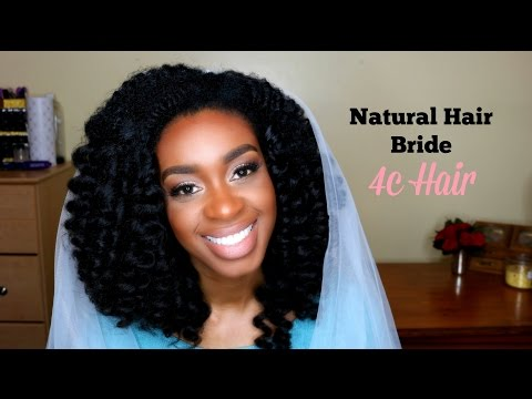 WAND CURLS: Bridal Look #4 for 4c Natural Hair Women, Watch me SLAY this U-Part Wig