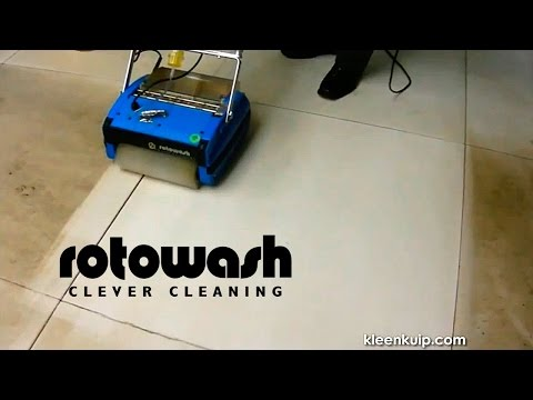 Hard Surface Floor Cleaner Machine - Rotowash Carpet Cleaning On-Site Demonstrations