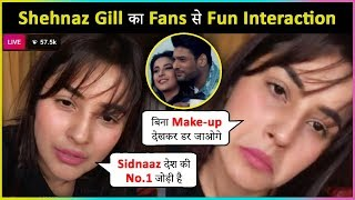 Shehnaz Gill Fun LIVE Interaction With Fans On Bhula Dunga Song, #SidNaaz & More