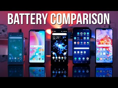 Huawei P20 Pro vs S9 Plus vs P20 Lite vs Sony Xperia XZ2 - Battery Review !