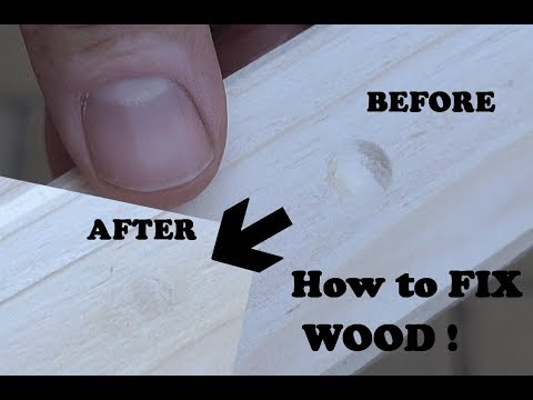Amazing woodworking life hack. How to Fix wood Dents, Holes and Scratches!