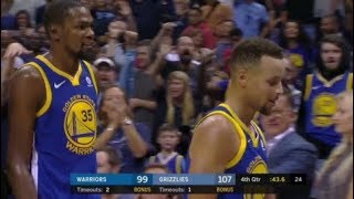 Stephen Curry AND Kevin Durant get ejected! - threw mouth piece at referee