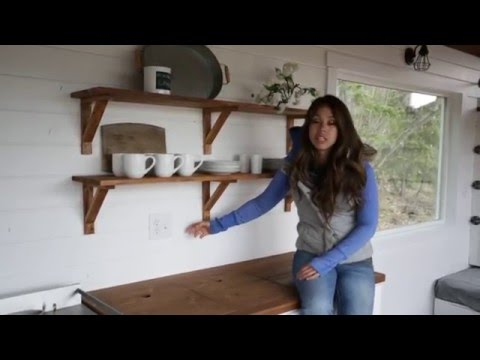 How to Make Wood Open Kitchen Shelves: Ana White Tiny House Build [Episode 15]