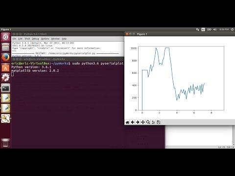 Python run on Ubuntu 17.04/Python 3.6 to plot serial data from ESP8266/NodeMCU