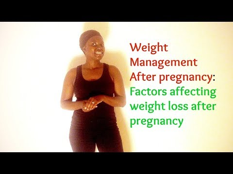 Weight management after pregnancy: Factors affecting weight loss after pregnancy