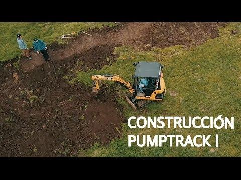 Construyendo un pumptrack en Santiago!