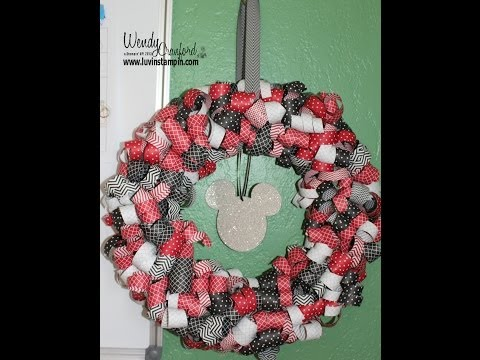 Stampin Up Mickey Mouse Wreath