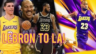 LeBron James LEAVES Cleveland & SIGNS a 4yr/$154M MAX DEAL with the LAKERS!