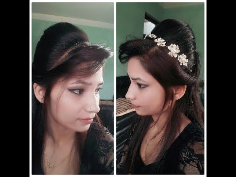 Easy Puff Hairstyle/ Model Puff/ How To Make Back Puff Hairstyle For Party