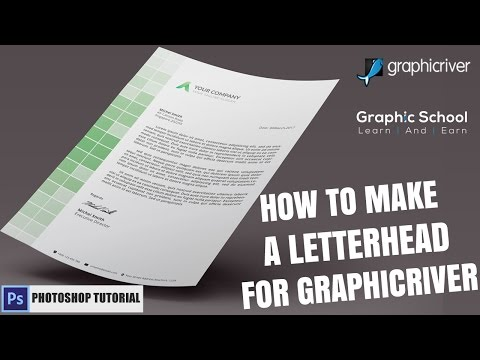 How To Make a Letterhead Design In Photoshop |  For Graphicriver | Create an Awesome Letterhead