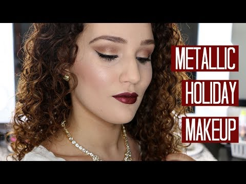 Metallic Holiday Makeup Tutorial - Urban Decay Heavy Metal Palette