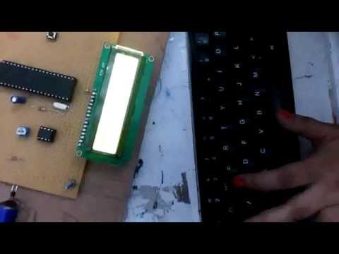 PC Keyboard interfacing with Microcontroller and display on 16x2 LCD