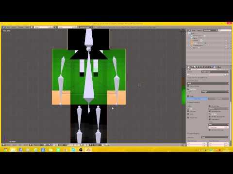 Minecraft: How to make a skin render using Blender!