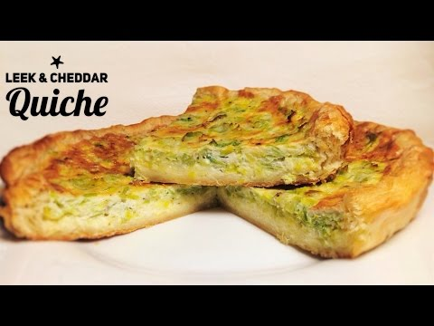 Easy Leek and Cheddar Quiche Recipe - puff pastry or shortcrust