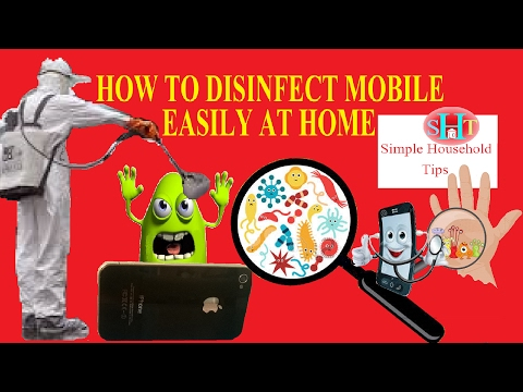 Clean SmartPhone Remove Viruses Dirt And Bacteria From Screen Easily
