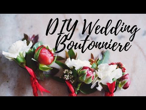 DIY How To Make A Wedding Corsage/ Boutonnière